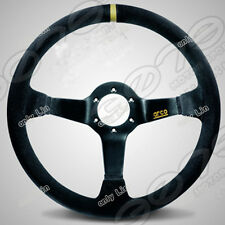 350mm SPARCO car Sports Suede Leather Deep Dish Drifting Racing Steering Wheel