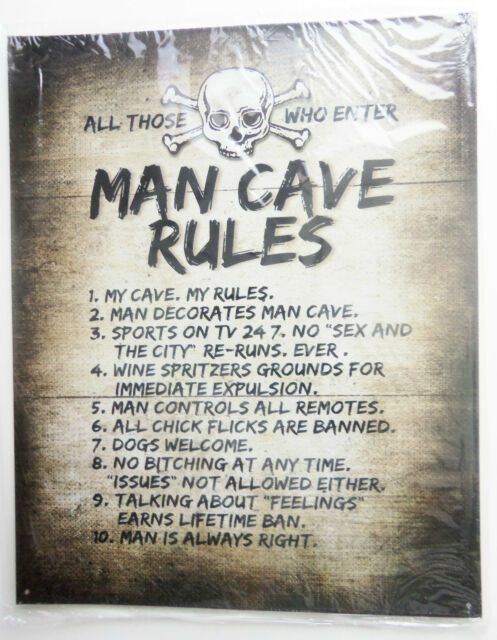 All Those Who Enter Man Cave Rules Metal Sign NEW