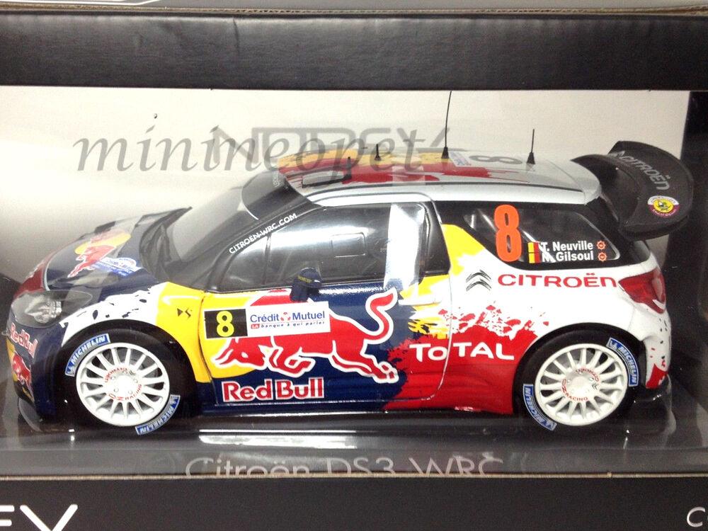 Norev 181553 Citroen Ds3 Wrc Rally De Francia 2012 rosso Bull 1 18 neuville gilsoul