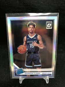 BRANDON-CLARKE-RC-2019-20-Optic-Silver-HOLO-Prizm-Rated-Rookie-194-AB23