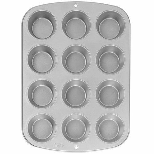 Wilton 12er Mini Muffin Cupcake Backform 2105-952 28 x 20 x 2,5 cm