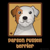 Parson Russell Terrier Cartoon T-shirt - Men Women Youth Tank, Short Long Sleeve