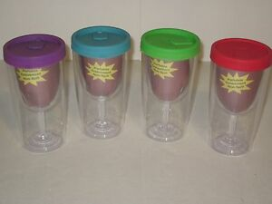 Double Walled Wine Glass Bpa Free Plastic Keeps Cold
