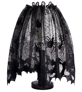 Halloween lamp lampshade light scary spider design black cool party image is loading halloween lamp lampshade light scary spider design black aloadofball Images
