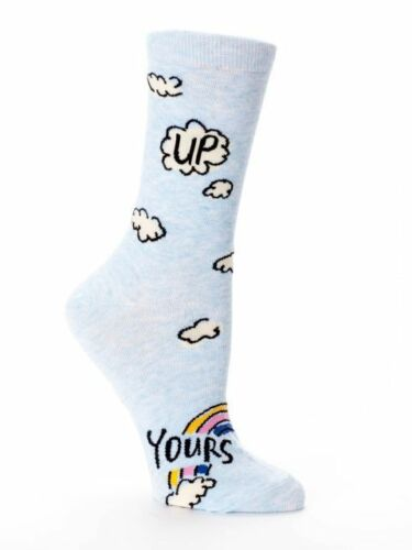 Blue Q Women/'s Crew Socks  ❤️ Size 5-10--Buy 1 Get 1 25/% Off! Add 2 to Cart