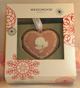 Wedgewood breast cancer christmas ornament