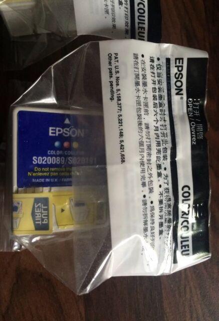 Epson Colour Ink Cartridges S020089/S020191 X 2 No Box Out Of Date Colour  Print