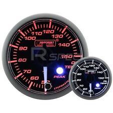 Prosport 52mm Clear Amber White Car Oil Temperature Gauge DEG C Peak Warning