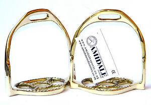 Barock Étrier Équitation Fers Laiton Doré German Silver De Amidale