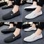 Plus-Size-Men-039-s-Flat-Slip-on-Leather-Loafers-Casual-Lazy-Driving-Moccasins-Shoes thumbnail 2