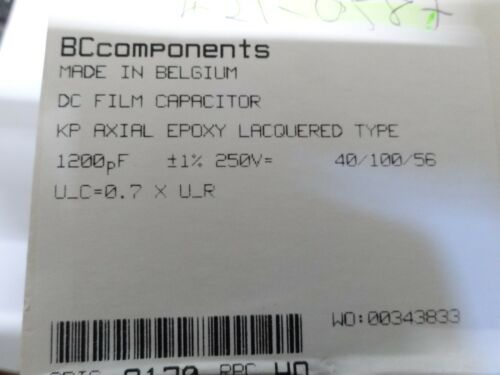 10 BC Components KP462 1200pf 1/% 250V polypropylene capacitor 1N2 1.2N 462-41202
