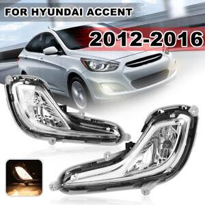 Paar-Vorne-Stossfaenger-Nebel-Licht-Lampe-Fuer-Hyundai-Accent-2012-2013-2014-2015