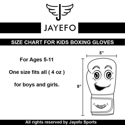 jayefo kids boxing gloves 4 OZ cartoon youth boys girls protective ages 5-11 mma