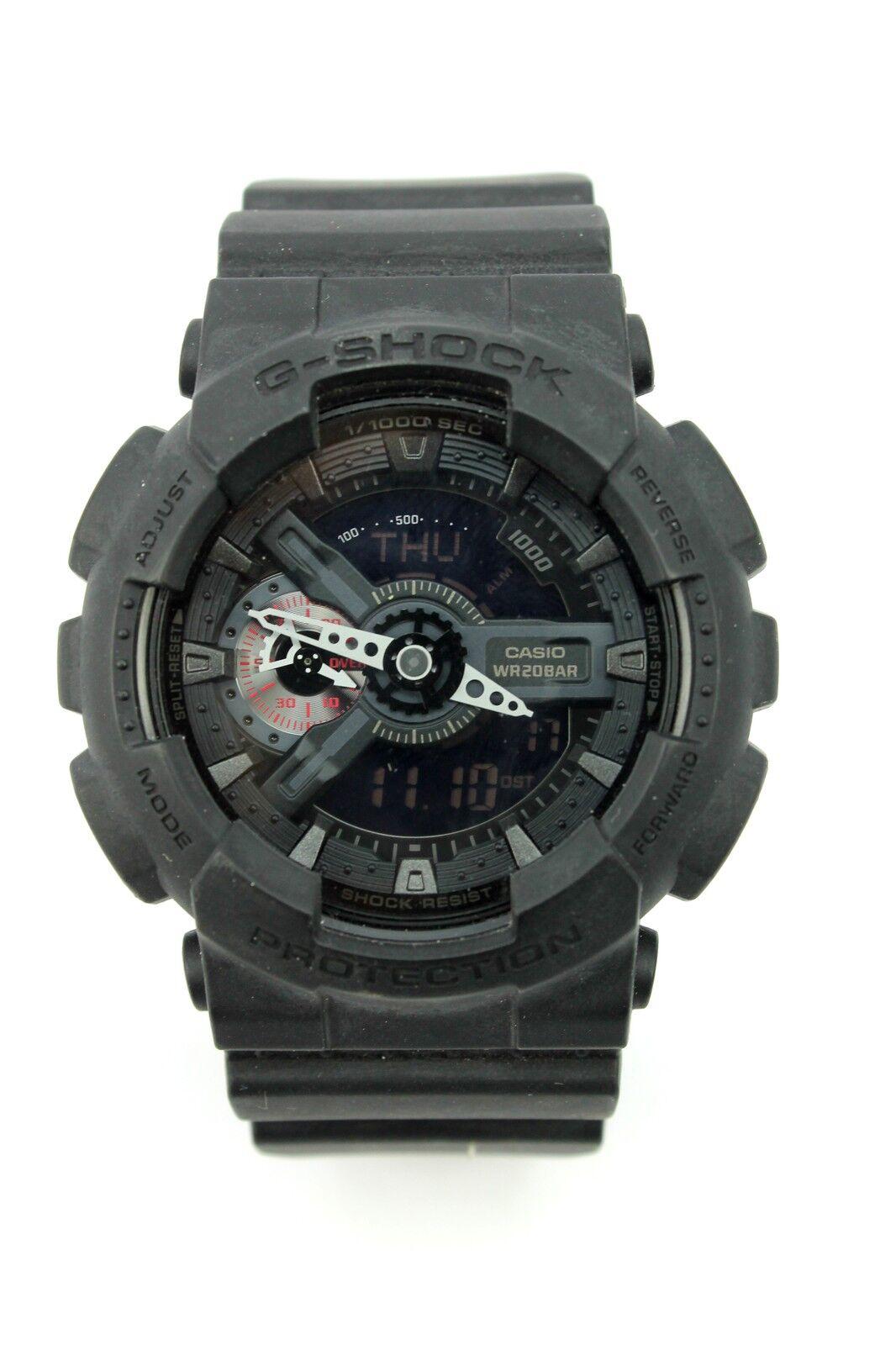 Casio 5146 G Shock Ga 110rg Mens Black Rose Gold Wr20 Bar Watch