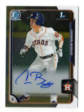 CONOR BIGGIO MLB 2015 BOWMAN CHROME DRAFT DRAFT PICK AUTOGRAPHS (HOUSTON ASTROS)