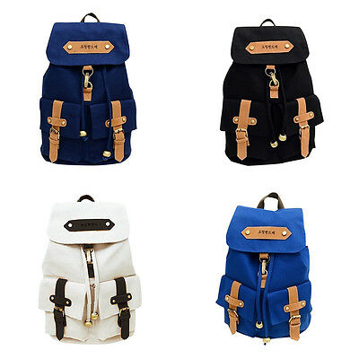 Fashion Women Canvas Backpack Shoulder Bag Satchel Rucksack Travel School Bags