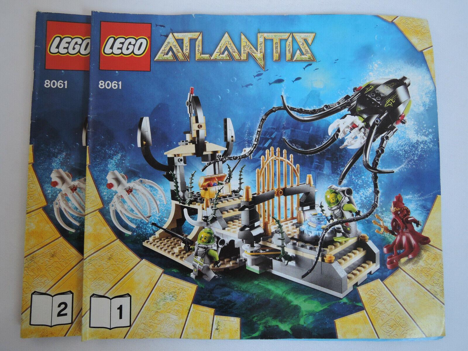 Lego Atlantis 8061 Tintenfischtor Kpl Kpl Kpl Anleitung
