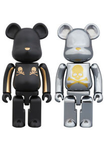 Details about Medicom Bearbrick | 200% Mastermind Japan Gold Strip & Chrome  Silver Boxset
