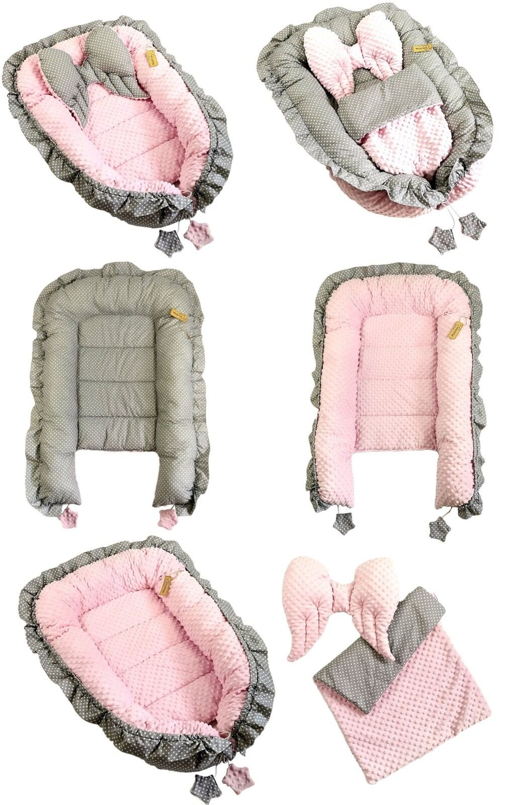 39 Babynest Babybett Babynestchen Reisebett Decke Kopfkissen 5 in1 Sweet Nest