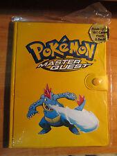 MASTER QUEST Pokemon FERALIGATR Yellow Binder/Folder/Album Card Holder Toysite