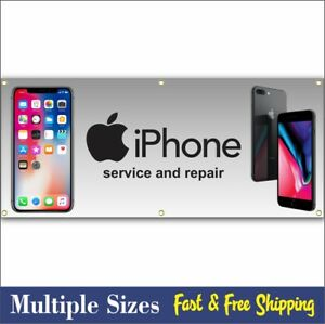 Cell Phone Repair Banner Sign Iphone Apple Computer Tablet 003 Ebay