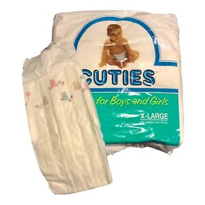 Vintage Cuties Diaper Plastic Backed Sz XL