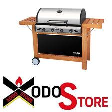 Grill barbecue a gas SUNDAY PROFY 4 INOX - occasione bbq 4 bruciatori 5609015