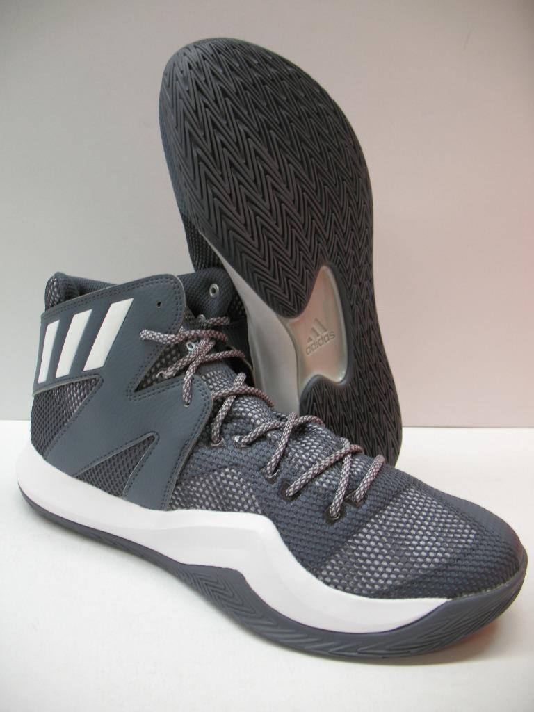 Nuove adidas b72765 pazzo rimbalzare scarpe da basket scarpe da ginnastica, grigio e bianco Uomo 10,5
