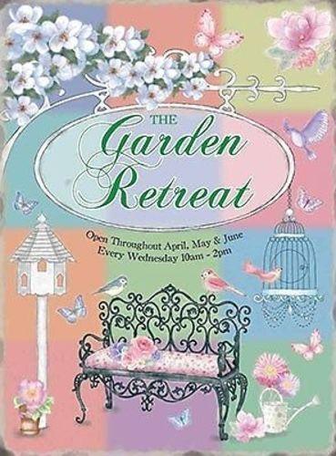 Garden Retreat Gardening Shabby Chic Mum Nana Girlie Gift Medium Metal Tin Sign