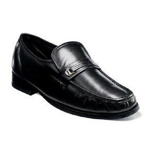 Florsheim Couro Masculina Preta Dancer sapatos 11002-01