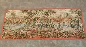Vintage French Beautiful Scene Tapestry 173x69cm (A1066)