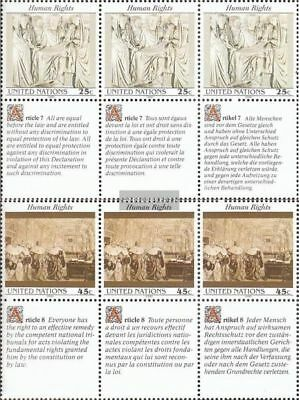 Uno - New York 606-607 Sechserblöcke (kompl.ausg.) Postfrisch 1990 Menschenrecht