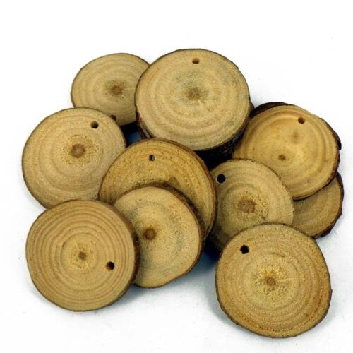 Real Wooden Slice Beads DIY wedding ideal for a backdrop for a pendant x 10