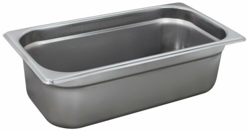 4-Inch Deep One-Third Size Anti-Jamming Steam Table Pan NSF Winco SPJP-304