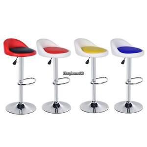 Image Is Loading 2 X Bar Stool Pu Leather Chair Adjule