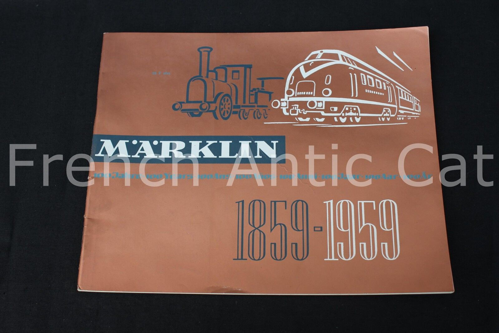 P668 rare train catalog marklin 1859 1959 new 100 years 65 pages fr auto