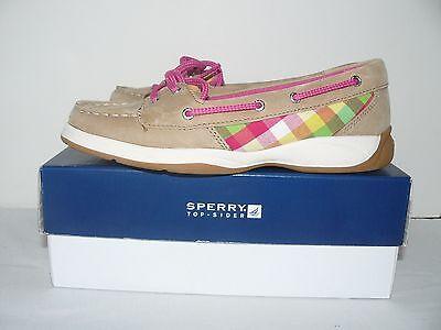 4M Casual Shoes NIB Sperry Girls Top-Sider Laguna Linen//Cheetah Size 1M 3M 2M