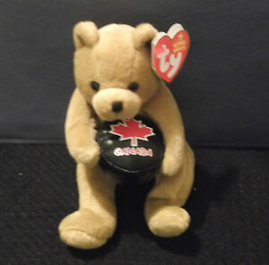 Deke-the-Hockey-Bear-COLLECTIBLE-TY-BEANIE-BABY-NWT-2005-Canadian-Exclusive