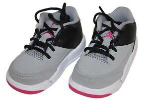 792527b0d5e Air Jordan Flight Origin 3 GT Wolf Grey Pink Boys Girls Sneakers ...