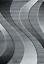 Kurzflor-Teppich-Wohnzimmer-Grau-Schwarz-Weiss-Gestreift-Wellen-Meliert-NEU Indexbild 5