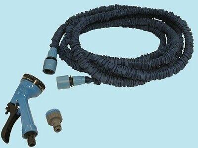 Tubo flessibile + pistola raccordi irrigazione giardino estensibile 5 - 15 mt