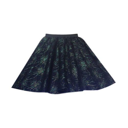 Ladies WITCHES Spider Web BLACK CAT Halloween Costume Fancy Dress TUTU Skirts UK