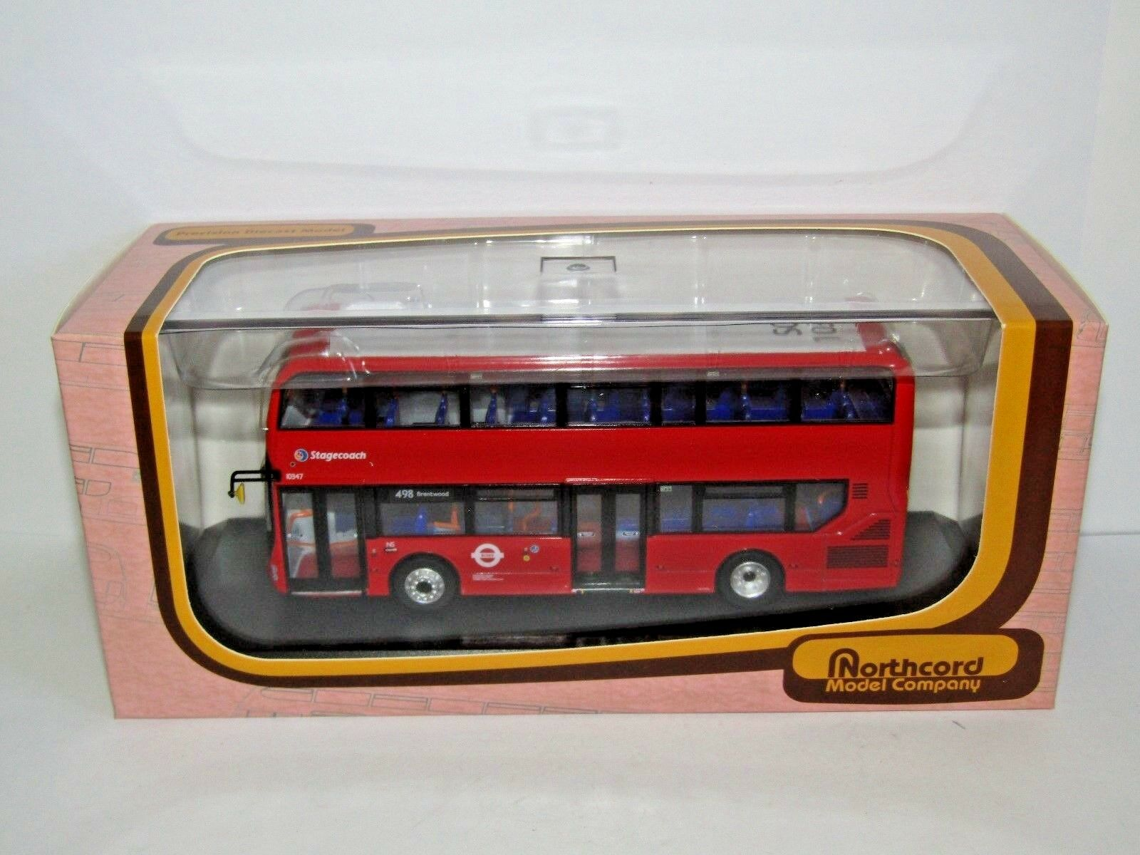 Northcord CMNL Alexander Dennis E400 OMBRE ROSSE LONDON ROUTE 498 1/76 UKBus 6503