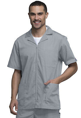 Cherokee Workwear Originals Men/'s Zip Front Jacket 4300 WHTW White Free Shipping