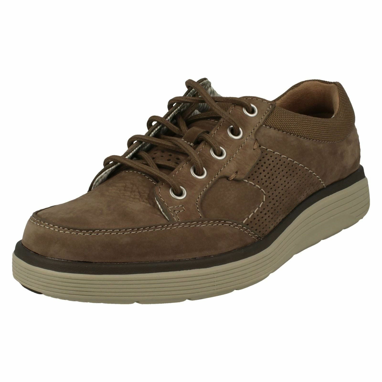 Uomo Clarks Casual Lace Up Trainers Un Abode Lace