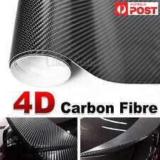 50cm x1.51M 4D Gloss Black Carbon Fibre Fiber Vinyl Car Wrap Air Release Film