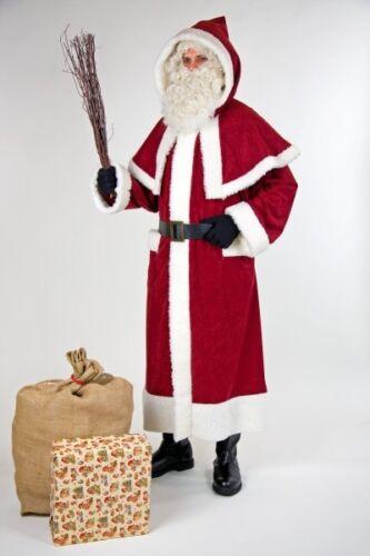 nostalgischer Weihnachtsmann Mantel mit Pellerine Kapuze Weihnachten FM
