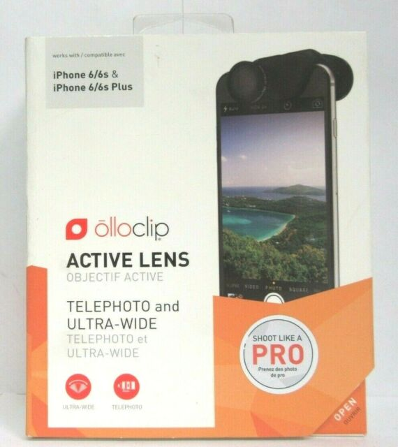 wholesale dealer 932ed f7604 olloclip Active Lens for Apple iPhone 6 6s and Plus Telephoto Ultra Wide