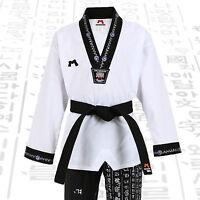 Hangul V Neck Uniforms Taekwondo Doboks Suits Korean Letters Tkd Mma Hunmin Gift