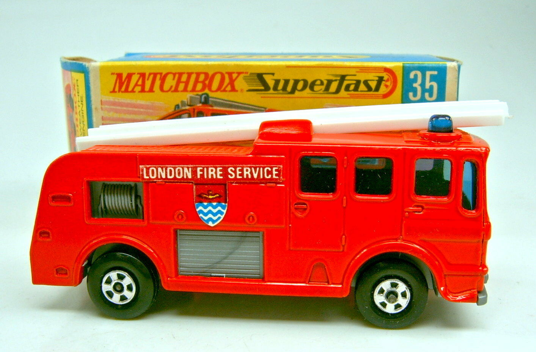 Matchbox SF Nr.35A Merryweather Fire Engine red red red dünne Räder top in Box f20adb